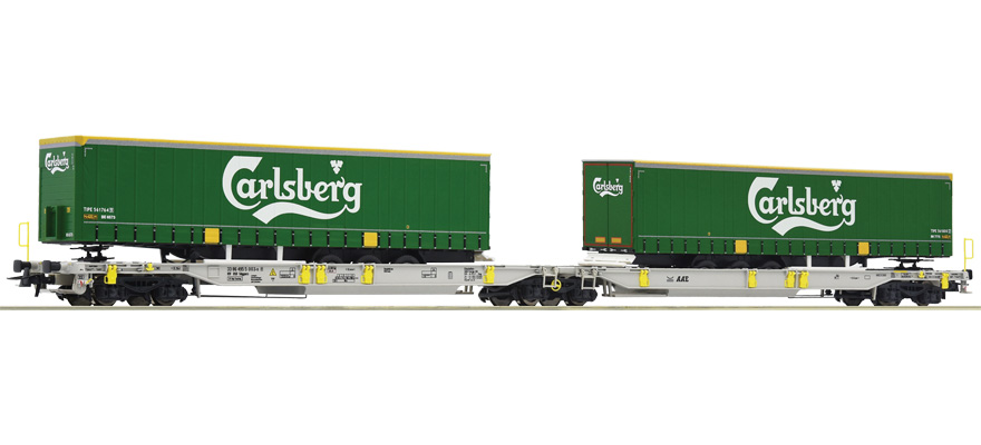 76432 Articulated double pocket wagon, type Sdggmrs/T2000