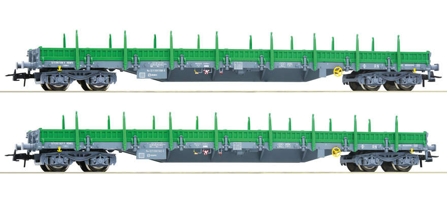 67081 2 piece set with stake wagons, type Res