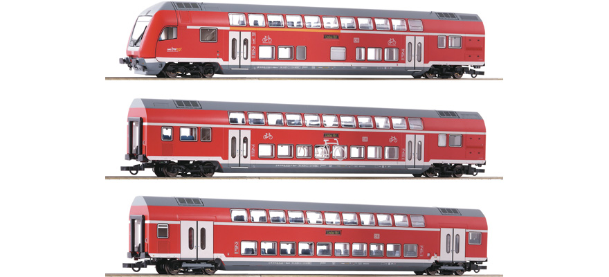 74150 Set: Doppelstockwagen