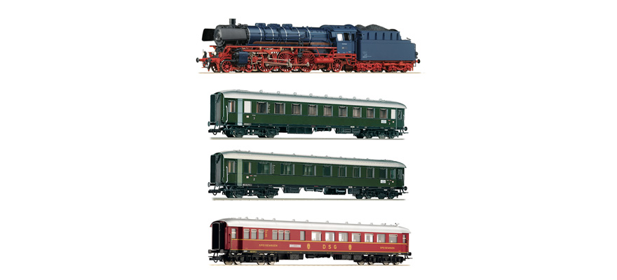 61474 Set: Steam locomotive class 03.10 and fast train
