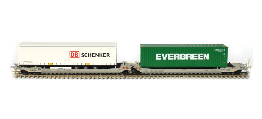 RR90361 1 semi-trailer DB Schenker 1 container Evergreen