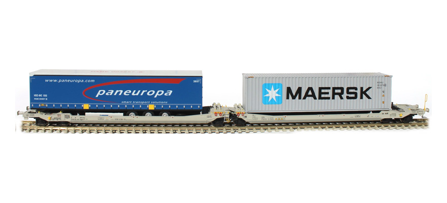 RR90364 1 semi-trailer pan-europe 1 container MAERSK