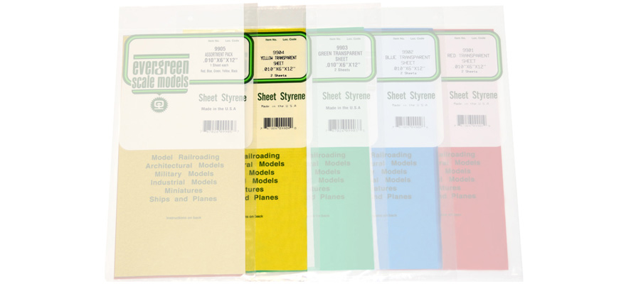 509904 Transparent Colored Styrene Sheet - yellow