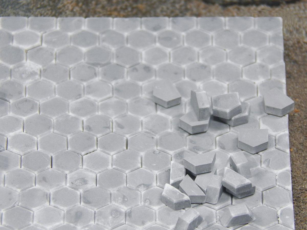 juweela 23355 voie i pflastersteine hexa grau dunkel - ergänzung