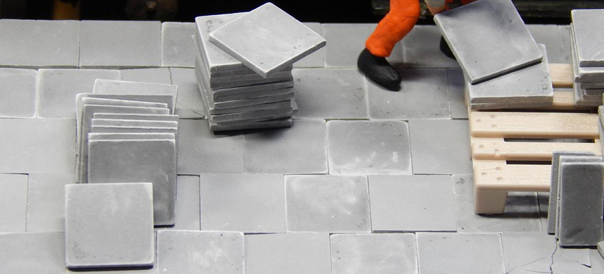 22087 Pavement slabs, dark gray 60 pieces