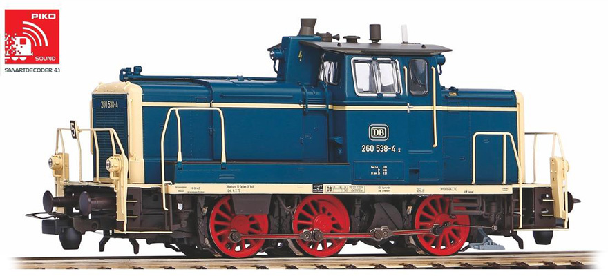 55901 Diesel locomotive series 260, incl. PIKO sound decoder