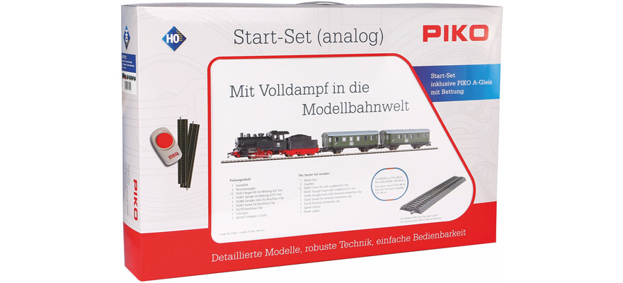 57112 Start-Set Dampflok Personenzug