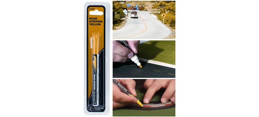 C1292 Woodland Scenics Road Striping Pen Yellow