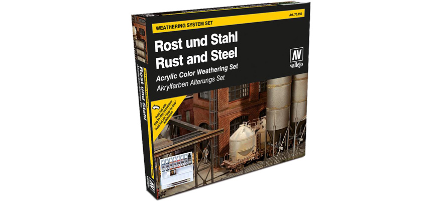 Vallejo 70150 Model Color Model Color Farbset Rost /& Stahl