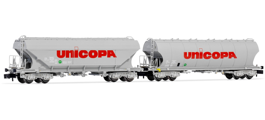 HN6440 SNCF, 2 unit pack silo wagons, 'UNICOPA'