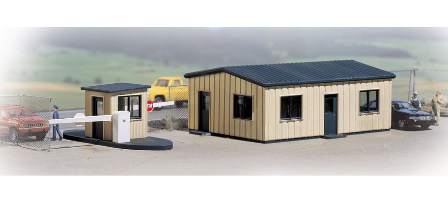 WALTHERS 533517 Office & Guard Shack -- Kit