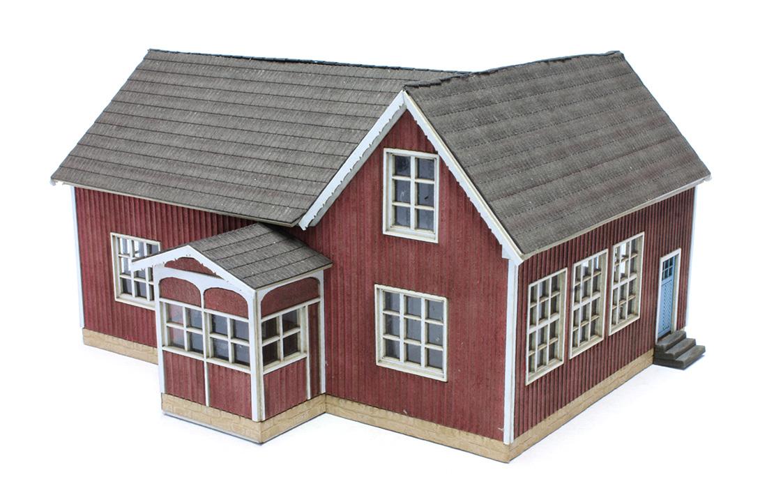 joswood 25006 spur h0 schwedisches haus, dorfschule; lasercut-bausatz