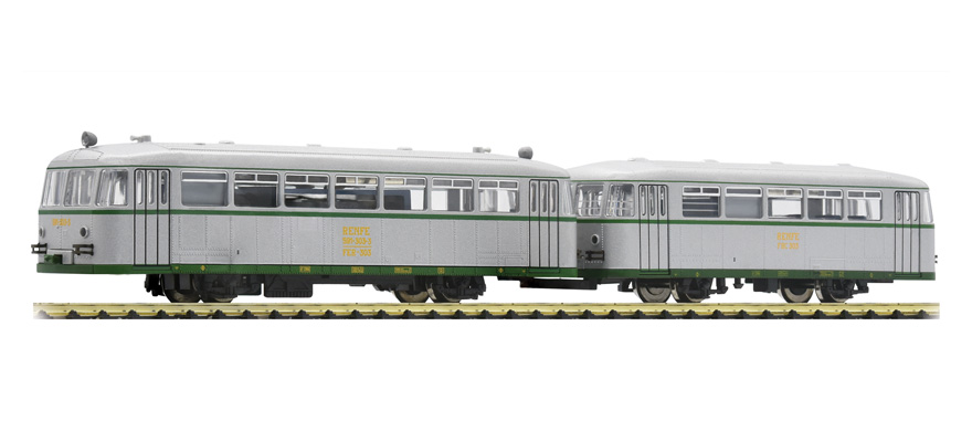 Fleischmann 740004 2 part rail bus 591 301