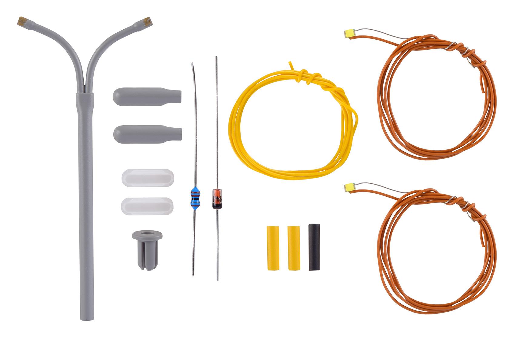 Viessmann N 6623 Peitschenleuchte doppelt LED Bausatz