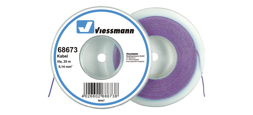 Viessmann 68673 Wire 0,14 mm², purple, ...