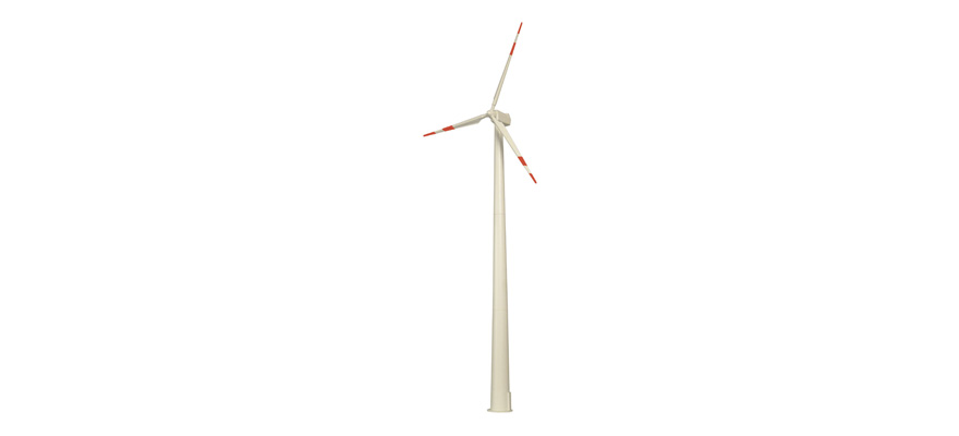 1370 Wind power plant with rotating wings