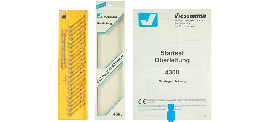 VIESSMANN 4300 N Startset-Oberleitung Spur N 1:160 NEU