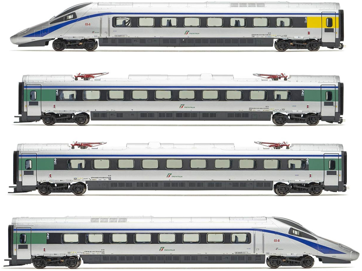 One of Them Driven and 2 Intermediate Coaches Lima HL1672 Expert Cisalpino 4-Unit Base Set EMU Class ETR 610 in Original Livery Contains 2 Powerheads Period VI