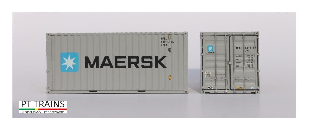 Container MRKU 8585826 1:87 PT Trains 820003.1 MAERSK 20ft