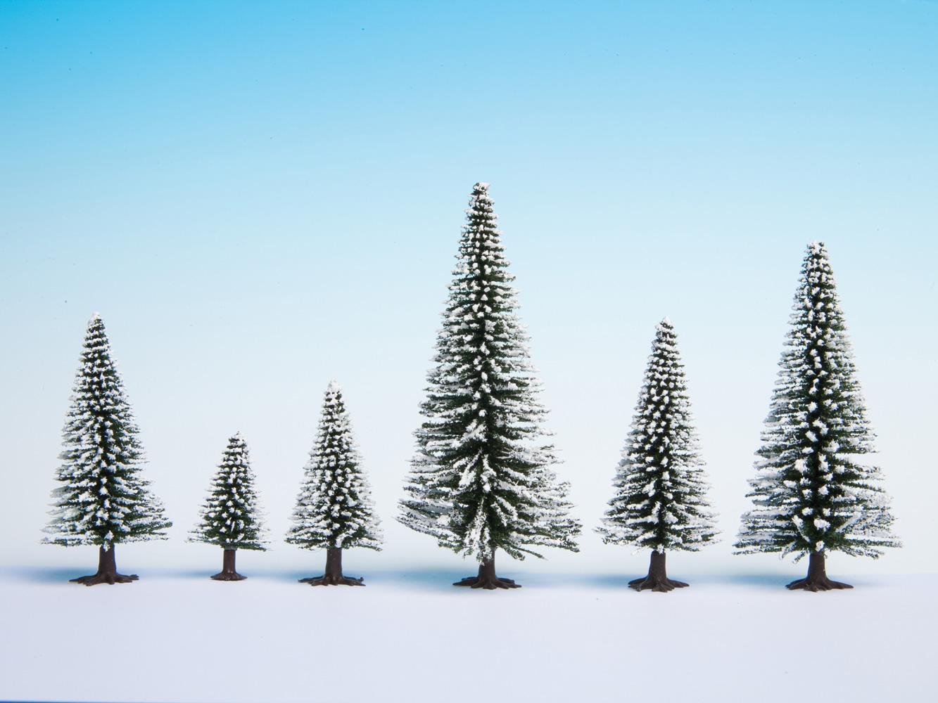 25-Piece Noch 32828 Snow Fir Trees