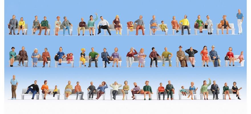 "NOCH 18402 Mega Economy Set ""Sitting People"""