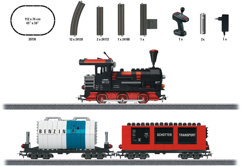 Märklin 44736 vagones start up bausteinwagen con tres kits h0