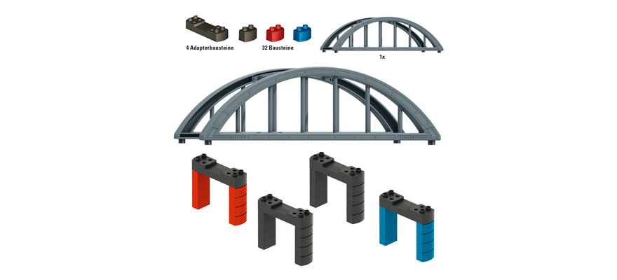 72218 Elevated Railroad Bridge Building Block Set