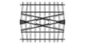 Bemo 4294557 gebogenes Gleis 12° R = 520 mm Code 70