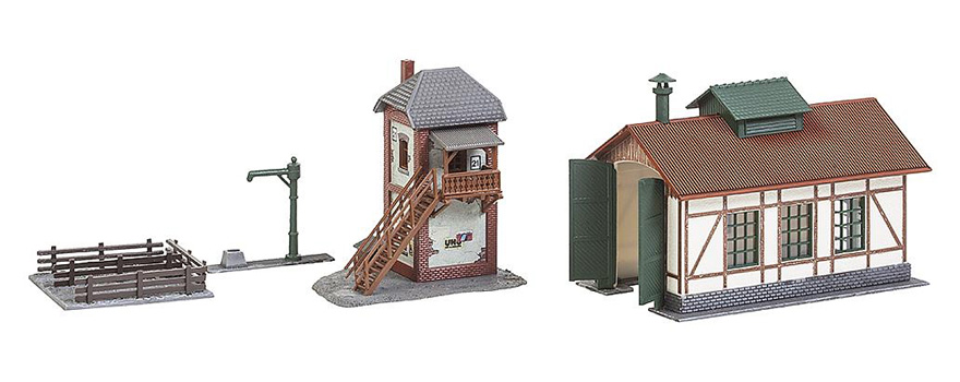FALLER 222108 Branch line engine shed with block post