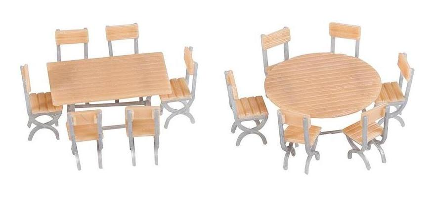 180957 2 Tables and 12 chairs