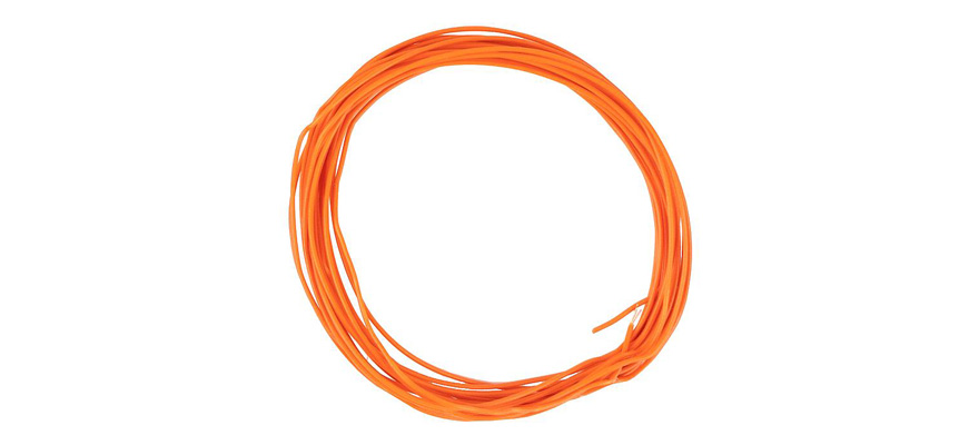 163789 Litze 0,04 mm², orange, 10 m