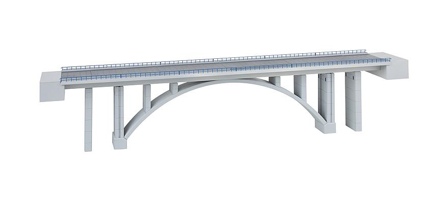 222573 Modern arched bridge