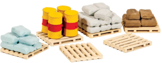Peco 221 Pallets, Sacks and Barrels