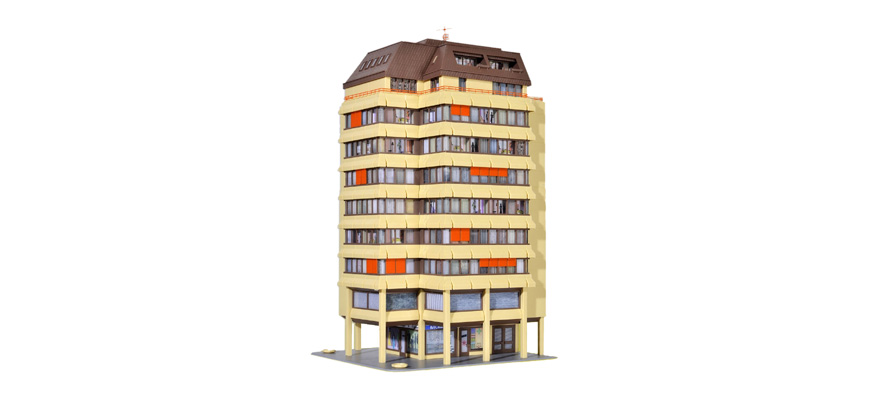 Kibri 38218 H0 Hochhaus