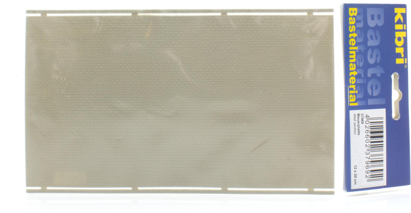 Spur N Kibri 37969 Mauerplatte unregelmäßig 20 x 12 cm