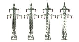 Neu Faller 180928 Strommasten 4 Strommasten Epoche III H0 Bausatz