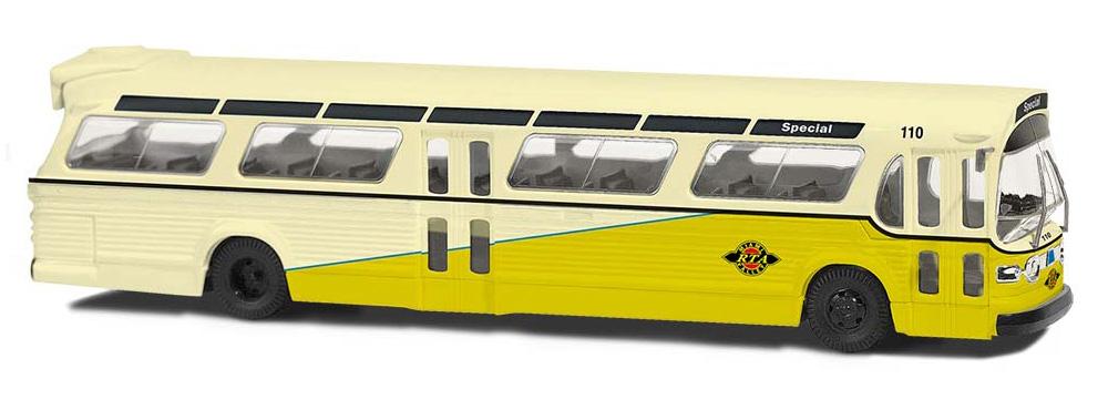 Dayton Busch 44508-1//87 // H0 Amerikanischer Bus Fishbowl Neu