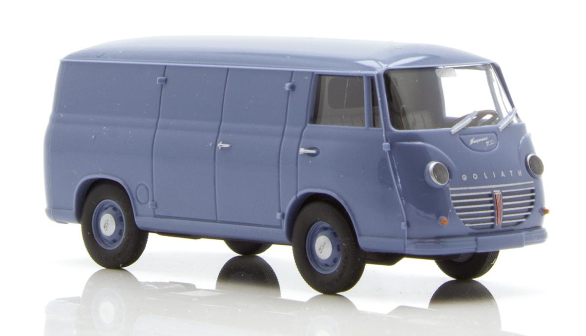 Neu Blau H0 Goliath Express 1100 Kasten Busch 94000-1//87