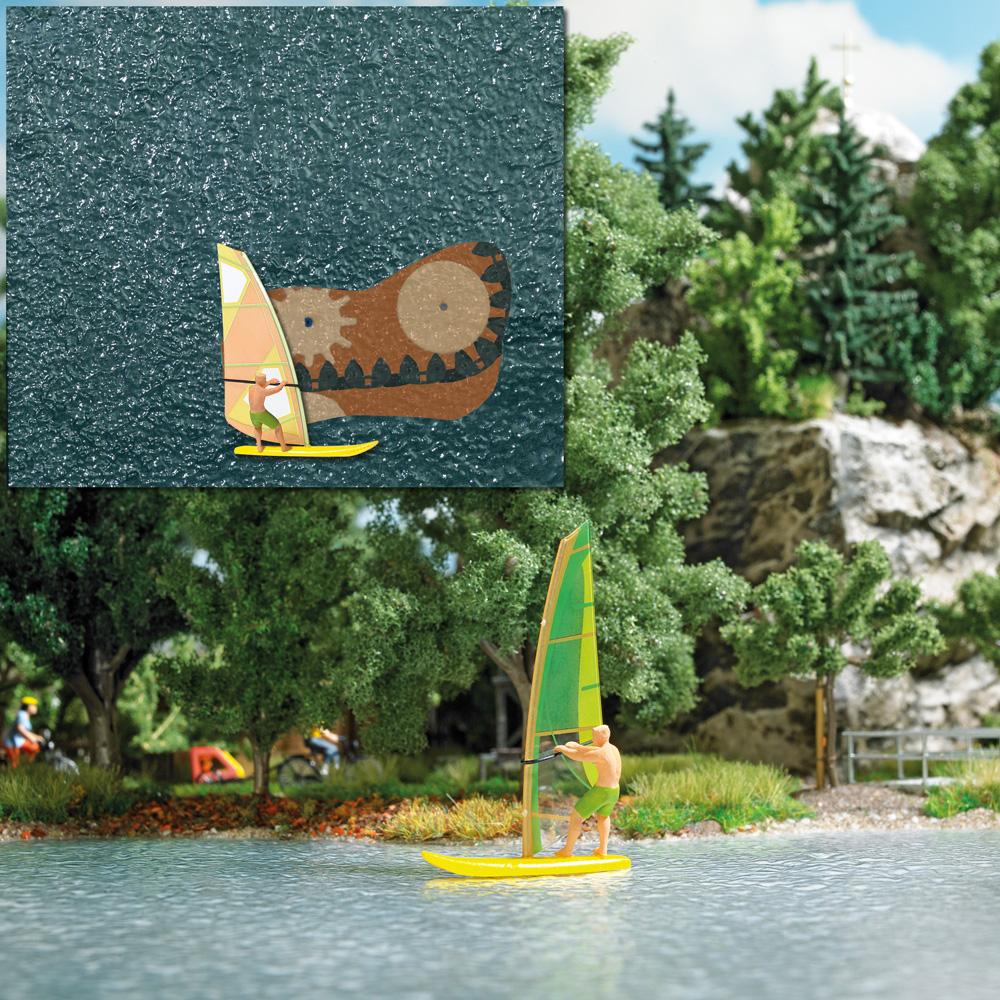 Busch 5486 Lake with windsurfer