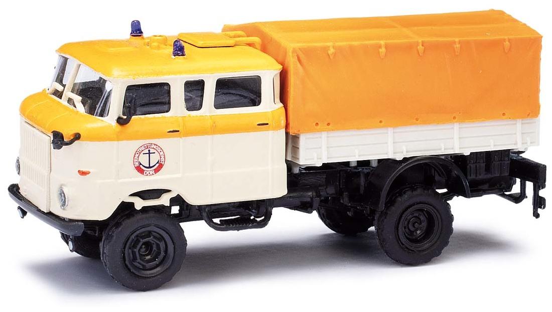 Busch 95261 ESPEWE Auto Modell 1:87 IFA W50 mit Tank »Roter Oktober« H0