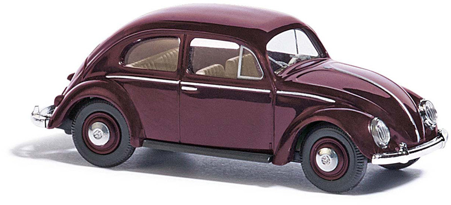 52901 VW Beetle with pretzel window red