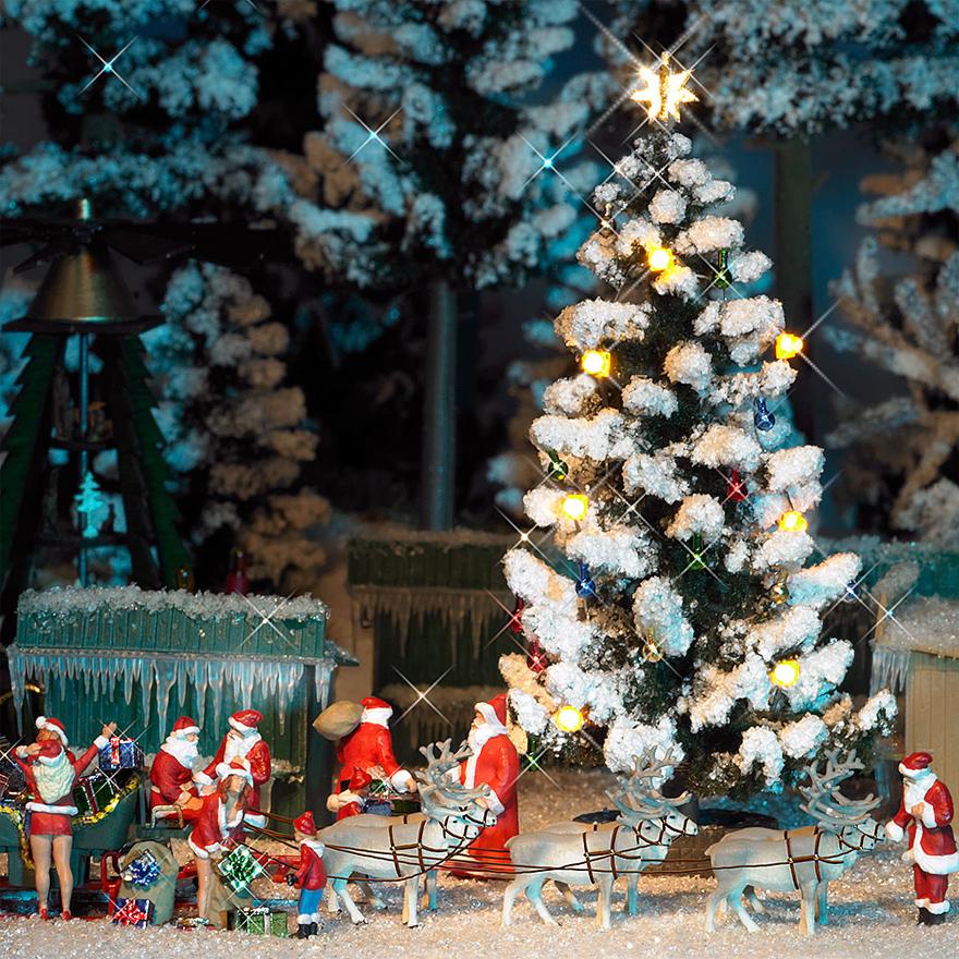Busch 5411 Spur H0 Beleuchteter Weihnachtsbaum