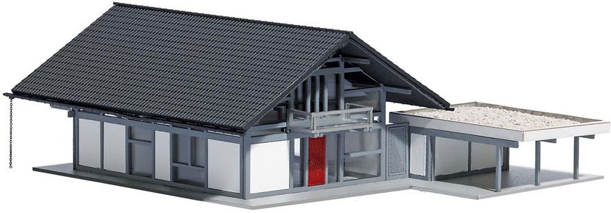 Modellbahnshop busch 1447 wohnhaus modern for Wohnhaus modern