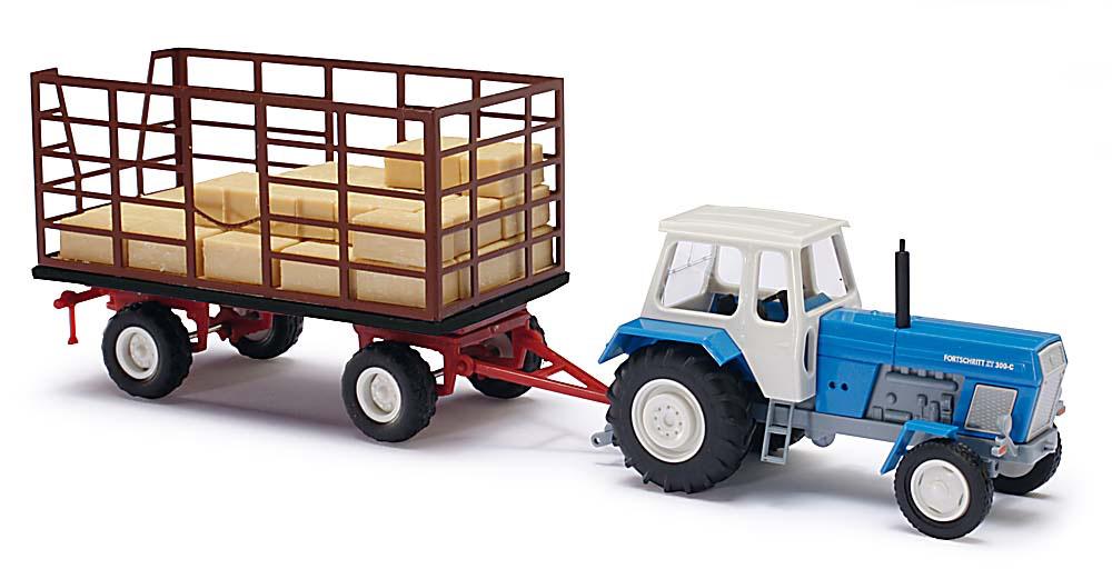 Нарисовать трактор с тележкой