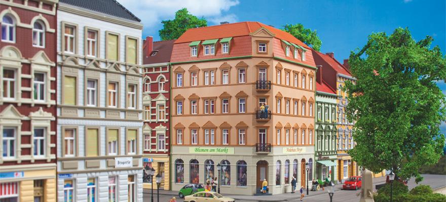 Auhagen 11447 Schmidtstrabe 10 Corner House Modelling Kit