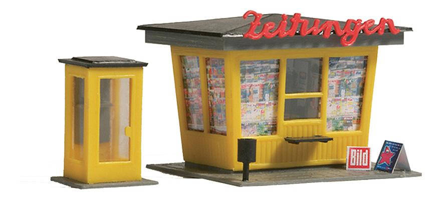 Auhagen 12340 Zeitungskiosk mit Telefonzelle