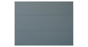 H0//TT Auhagen 52231 2 Dekorplatten Wellblech grau