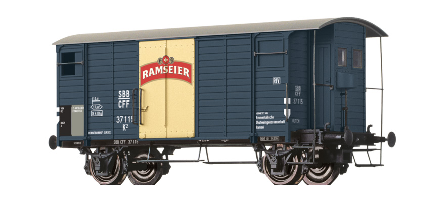 "Brawa 67857 Covered freight car ""RAMSEIER"""