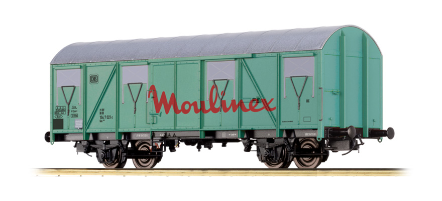 "47280 COVERED FREIGHT CAR GOS 245 ""MOULINEX"" DB"