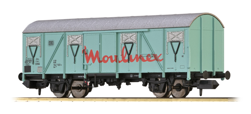"67817 COVERED FREIGHT CAR GOS 245 ""MOULINEX"" DB"